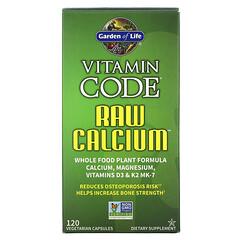 Garden of Life, Vitamin Code,RAW CALCIUM,120 粒素食膠囊