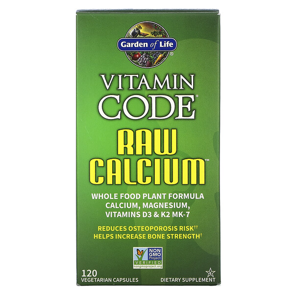 Vitamin Code, RAW Calcium, 120 Vegetarian Capsules