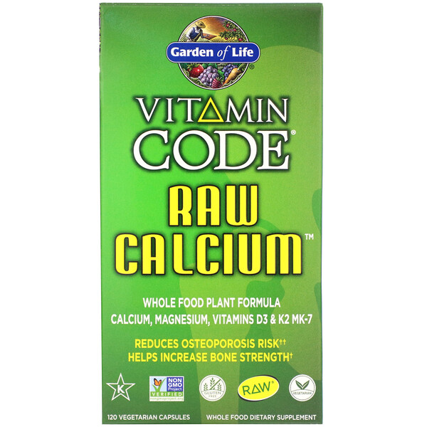 Garden of Life, Vitamin Code, RAW Calcium, 120 Vegetarian Capsules