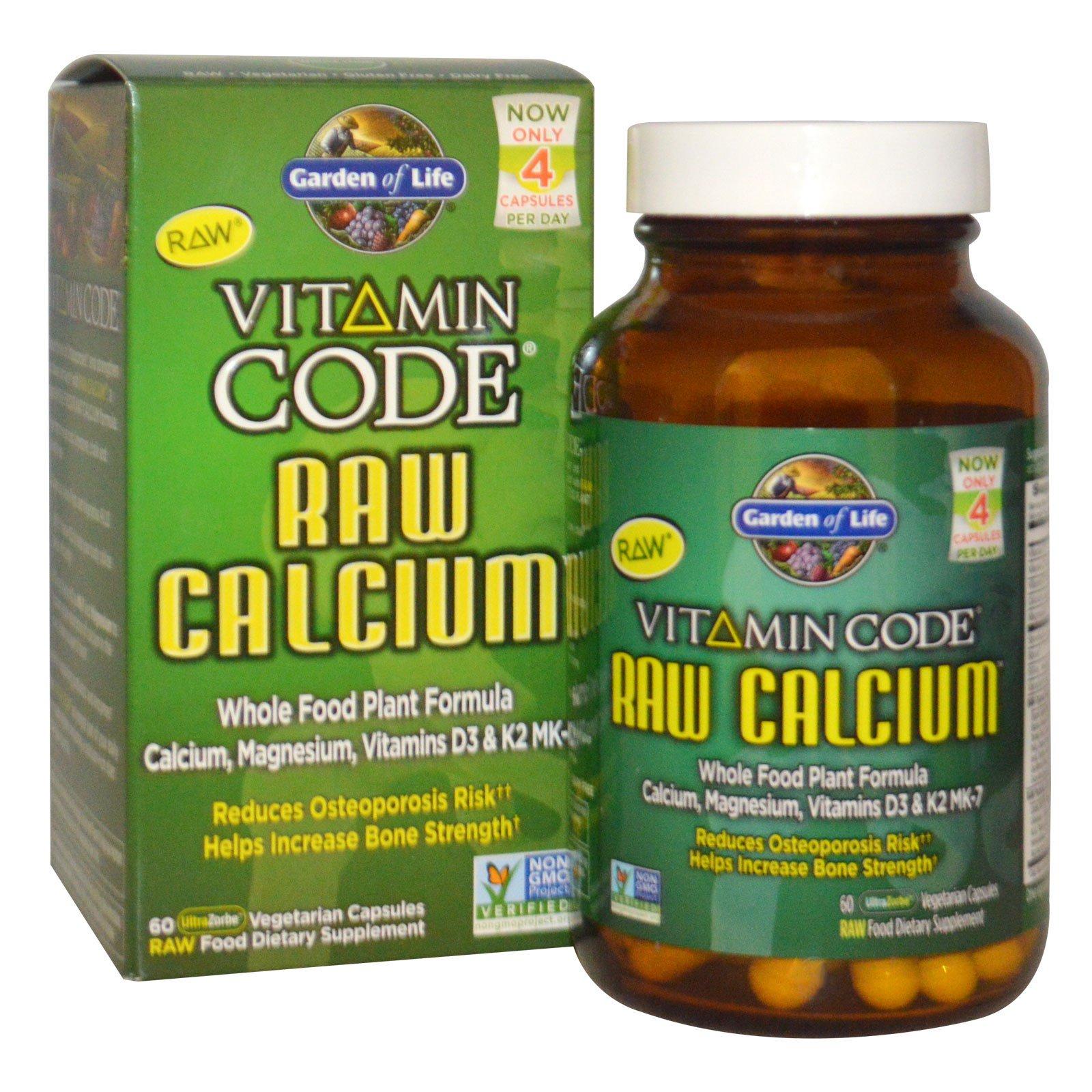 Garden of Life, Vitamin Code, Натуральный кальций, 60 вегетарианских капсул