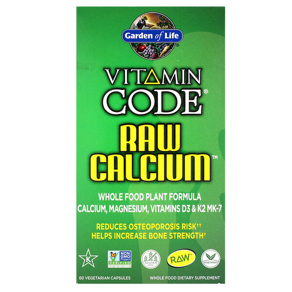 Garden of Life, Vitamin Code, RAW Calcium, 60 Vegetarian Capsules