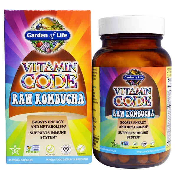 Garden of Life, Vitamin Code, RAW Kombucha, 60 Vegan Caps