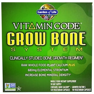 Garden of Life, Vitamin Code, Grow Bone System, 2 Part Program