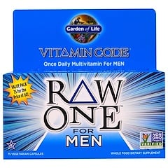 Garden of Life, Vitamin Code, Raw One, Once Daily Raw Multi-Vitamin For Men, 75 Veggie Caps