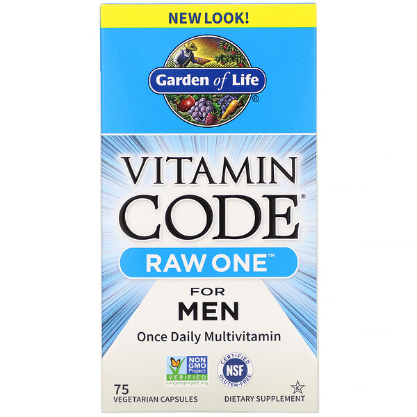 Vitamin Code, RAW One, Once Daily Multivitamin For Men, 75 Vegetarian Capsules