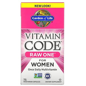 Гарден оф Лайф, Vitamin Code, RAW One, Once Daily Multivitamin for Women, 75 Vegetarian Capsules отзывы покупателей