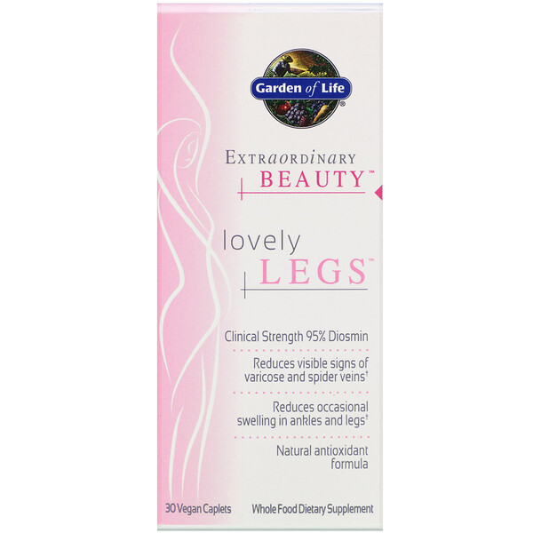 Garden of Life, Extraordinary Beauty, Lovely Legs, 30 Vegan Caplets