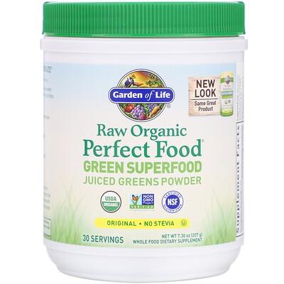 Raw Organic Perfect Food, растительный суперпродукт, оригинальный вкус, 209 г (7,4 унции)