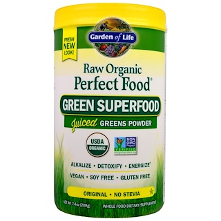 Garden of Life, Raw Organic Perfect Food, Green Superfood, Original, 7.4 oz (209 g)