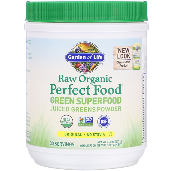 Garden of Life, Raw Organic Perfect Food, Green Superfood, Original, 7.30 oz (207 g)