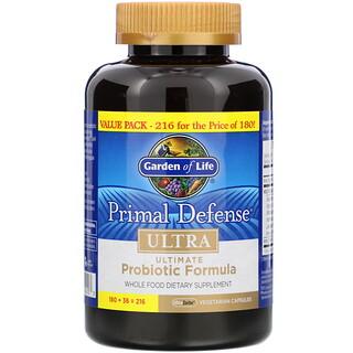 Garden of Life, Primal Defense, Ultra, Ultimate Probiotic Formula, 216 UltraZorbe Vegetarian Capsules