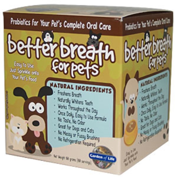 Garden of Life, Better Breath for Pets, 60 g (Discontinued Item)