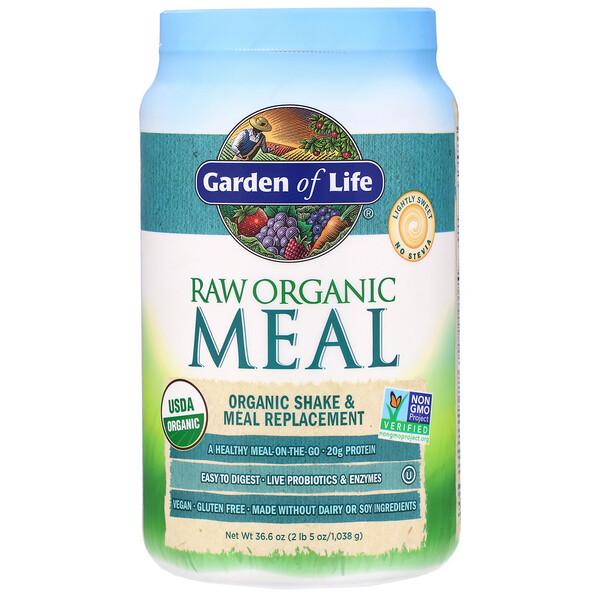 Alimento orgánico CRUDO, Batido y reemplazo de las comidas, 1038g (36,6oz)