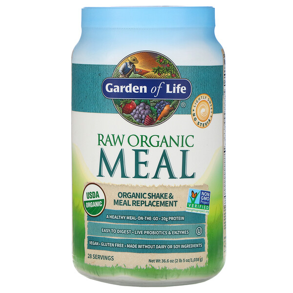 Garden of Life, RAW Organic Meal, 유기농 셰이크 & 대용식, 1,038g(2lb 5oz)