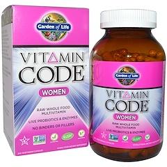 Garden of Life, Vitamin Code, para mujeres, multivitamina de alimentos integrales pura (Raw), 240 cápsulas vegetales