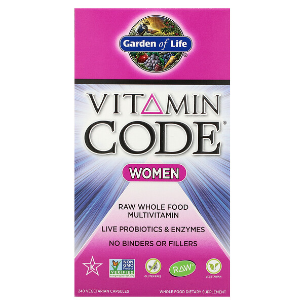 Garden of Life, Vitamin Code, Women, 240 Vegetarian Capsules