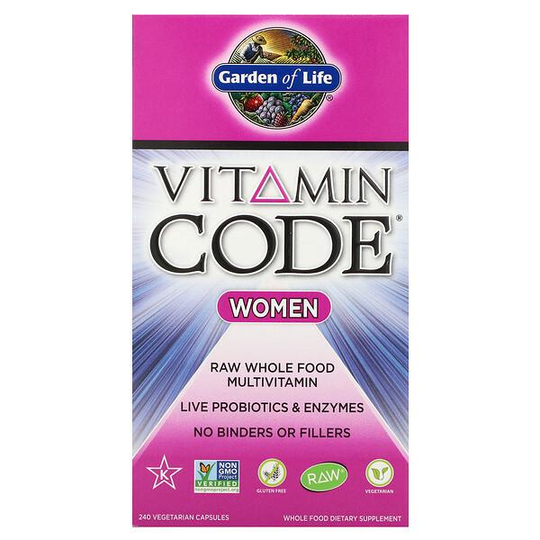 Vitamin Code, Women, 240 Vegetarian Capsules