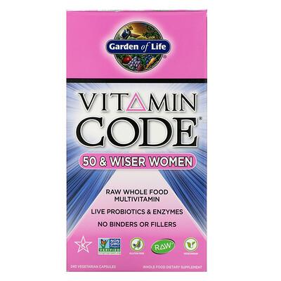Vitamin Code, 50 & Wiser Women, 240 Vegetarian Capsules недорого