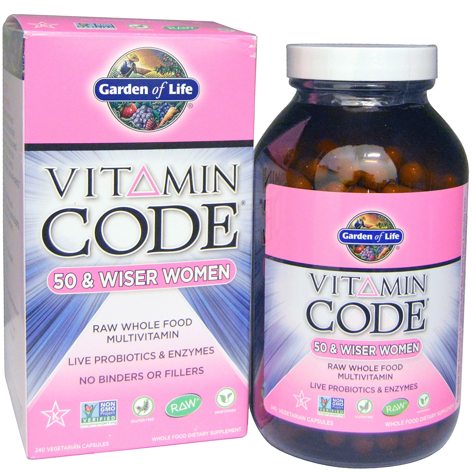 garden of life vitamin code 50 wiser women raw whole food multivitamin - Garden Of Life Multivitamin