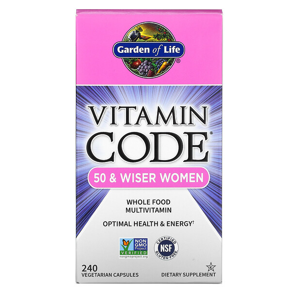 Vitamin Code, 50 & Wiser Women, Whole Food Multivitamin, 240 Vegetarian Capsules