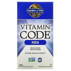Garden of Life, Vitamin Code,男性全食多維生素,240 粒素食膠囊