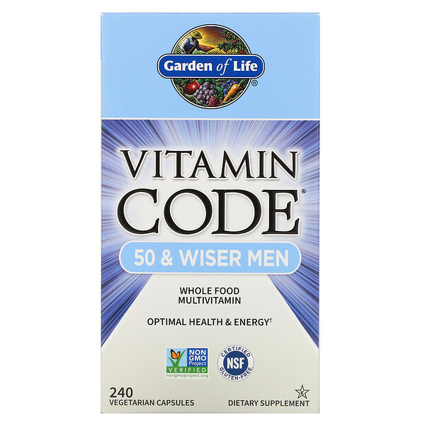 Vitamin Code, 50 & Wiser Men, Whole Food Multivitamin, 240 Vegetarian Capsules