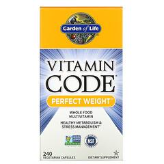 Garden of Life, Vitamin Code, Perfect Weight 漂亮體重,240 粒素食膠囊