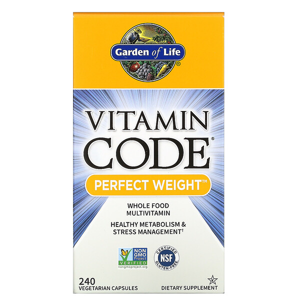 Vitamin Code, Perfect Weight, 240 Vegetarian Capsules