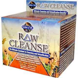Garden of Life, RAW Cleanse, The Ultimate Standard in Cleansing and Detoxification, 3 Part Program, 3 Step Kit