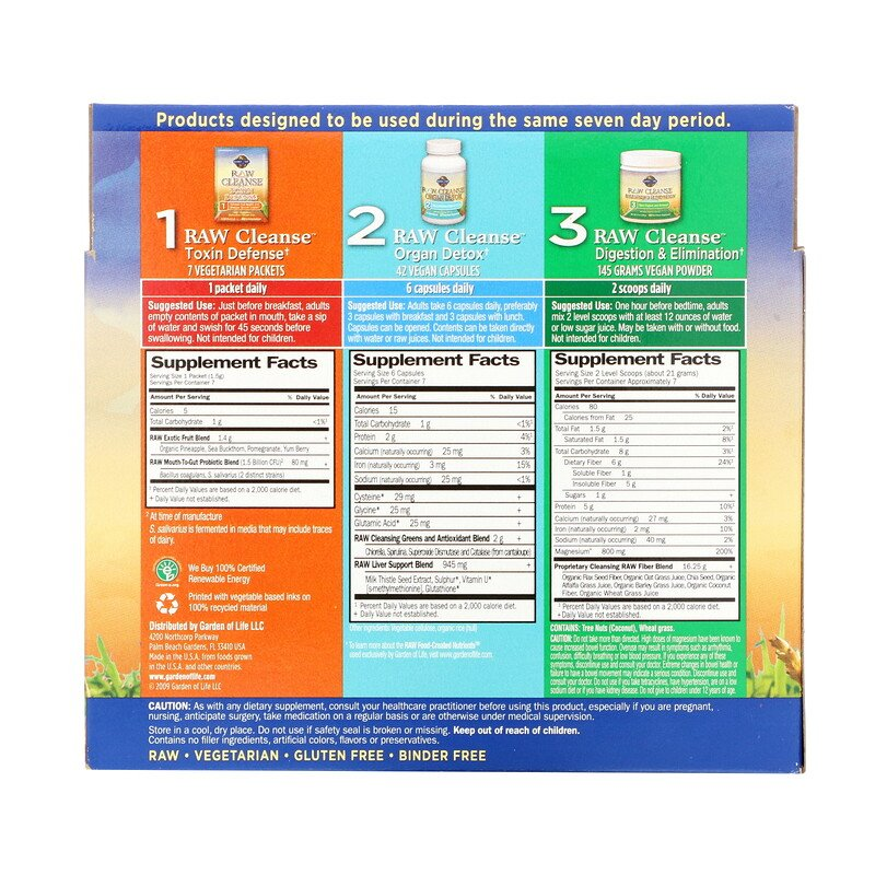 Garden of Life, RAW Cleanse, The Ultimate Standard in Cleansing and Detoxification, 3 Part Program, 3 Step Kit - photo 1
