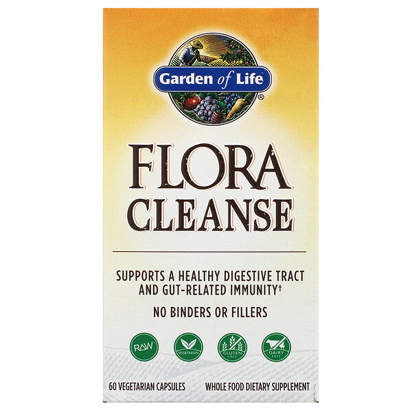 Garden of Life, Flora Cleanse, 60 Vegetarian Capsules