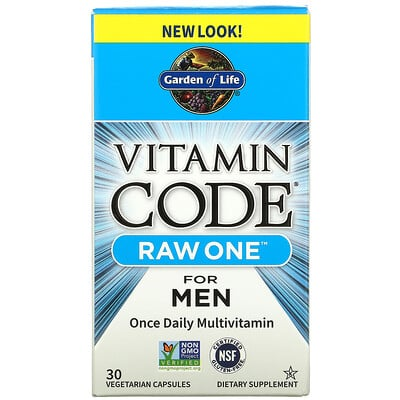 Купить Garden of Life Vitamin Code, Raw One For Men Once Daily Multivitamin, 30 Vegetarian Capsules