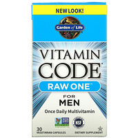 Garden of Life, Vitamin Code, Raw One For Men Once Daily Multivitamin, 30 Vegetarian Capsules