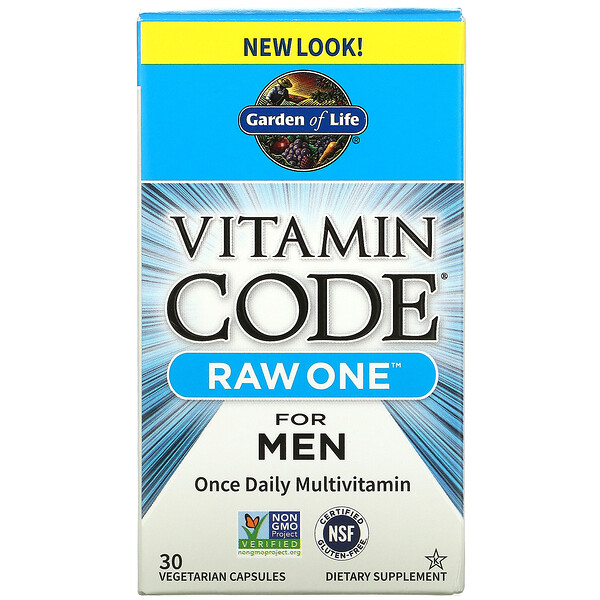 Vitamin Code, Raw One For Men Once Daily Multivitamin, 30 Vegetarian Capsules