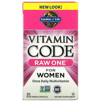 Купить Garden of Life Vitamin Code, Raw One For Women Once Daily Multivitamin, 30 Vegetarian Capsules