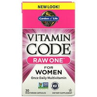 Garden of Life, Vitamin Code, Raw One For Women Once Daily Multivitamin, 30 Vegetarian Capsules