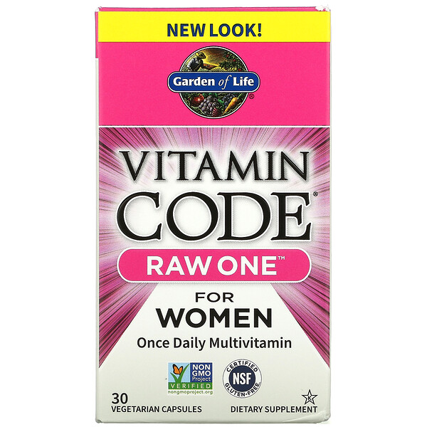 Vitamin Code, Raw One For Women Once Daily Multivitamin, 30 Vegetarian Capsules