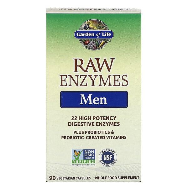 Ферменты RAW, для мужчин, 90 растительных капсул