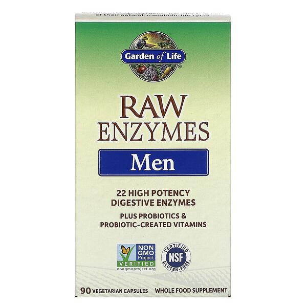 RAW Enzymes، للرجال، 90 كبسولة نباتية