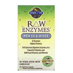 Garden of Life, RAW Enzymes,50 歲及以上男性,90 粒素食膠囊