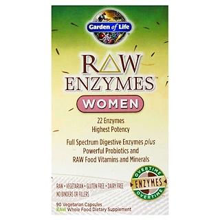 Garden of Life, RAW Enzymes, Women, 90 Veggie Caps