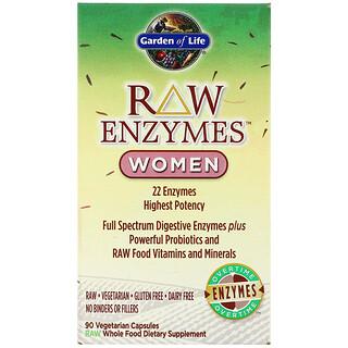 Garden of Life, RAW Enzymes, Women, 90 Vegetarian Capsules