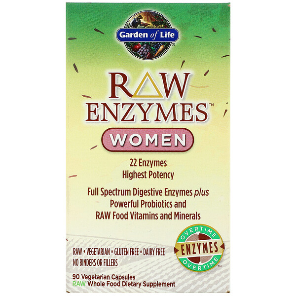 RAW Enzymes, Women, 90 Vegetarian Capsules