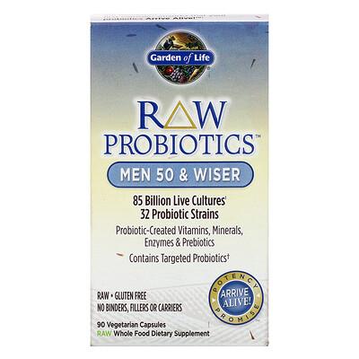 RAW Probiotics, Men 50 & Wiser, 90 Vegetarian Capsules