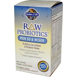 Garden of Life, RAW Probiotics, Men 50 & Wiser, 90 Veggie Caps