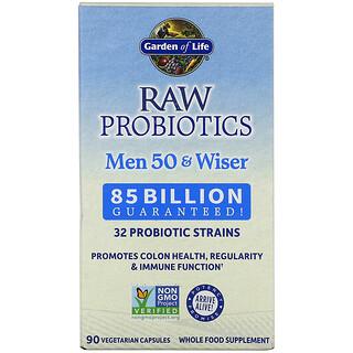 Garden of Life, RAW Probiotics, витамины для мужчин от 50 лет, 85миллиардов живых культур, 90вегетарианских капсул