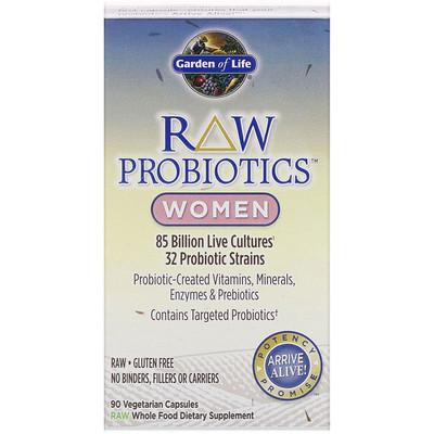 Купить RAW Probiotics, для женщин, 90вегетарианских капсул