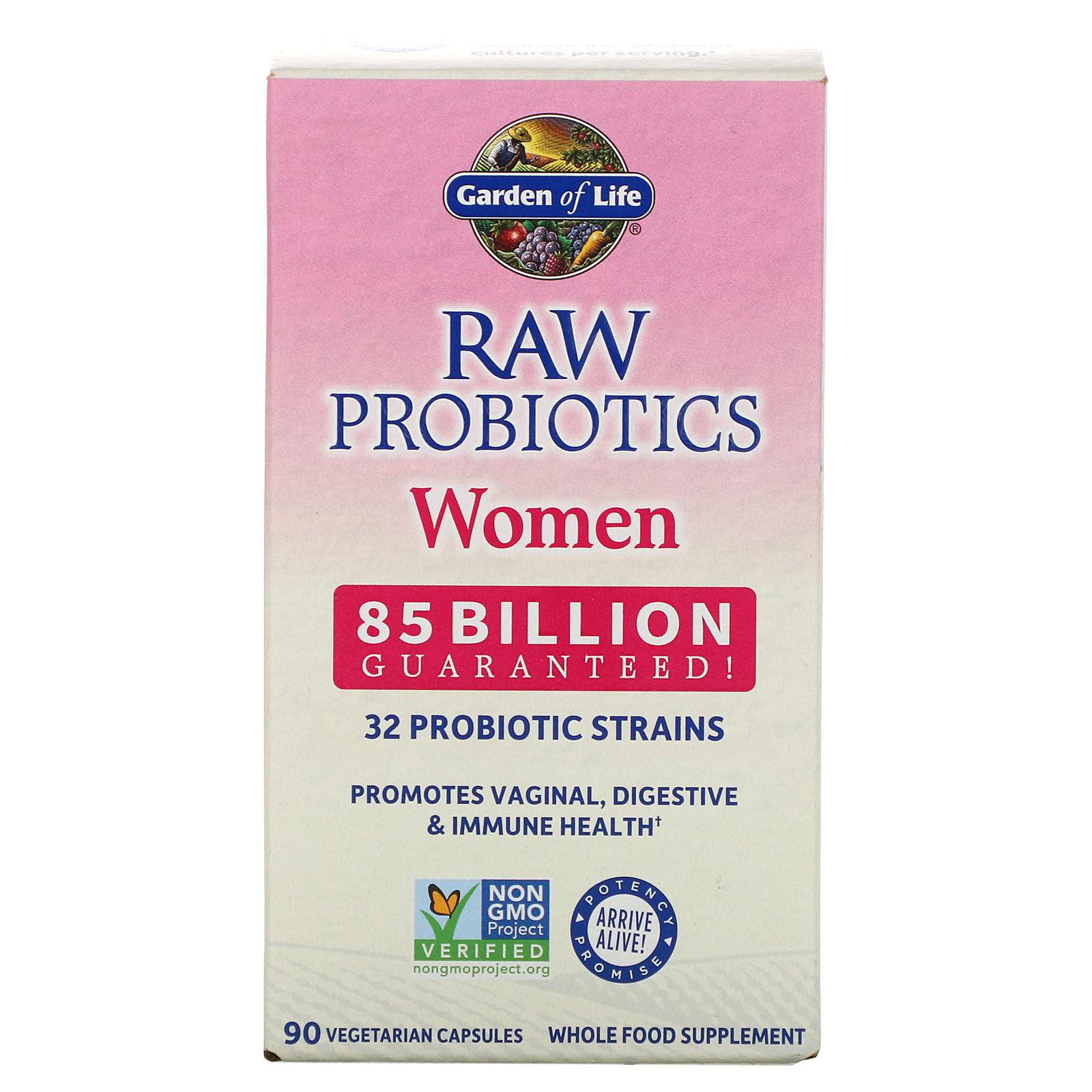 Garden Of Life Raw Probiotics Women 85 Billion 90 Vegetarian Capsules Iherb