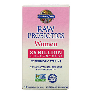 Garden of Life, RAW Probiotics, Women, 85 Billion, 90 Vegetarian Capsules