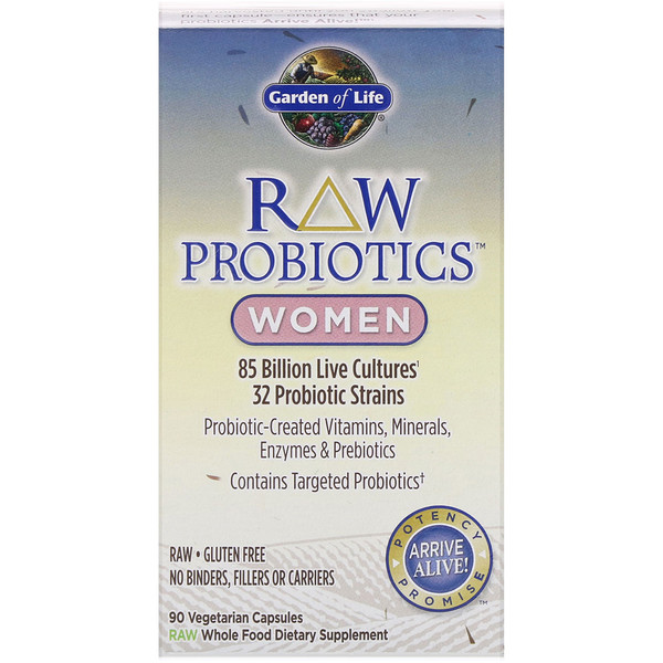 RAW Probiotics, Women, 90 Vegetarian Capsules